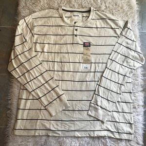 Wrangler Jeans T Shirt Longsleeve Stripes Cream